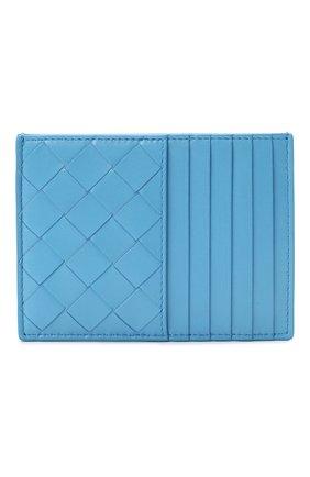 Женский кожаный футляр для кредитных карт BOTTEGA VENETA синего цвета, арт. 635043/VCPP3   Фото 1
