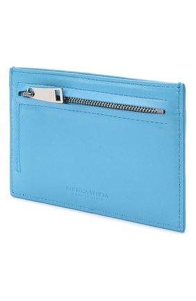Женский кожаный футляр для кредитных карт BOTTEGA VENETA синего цвета, арт. 635043/VCPP3   Фото 2