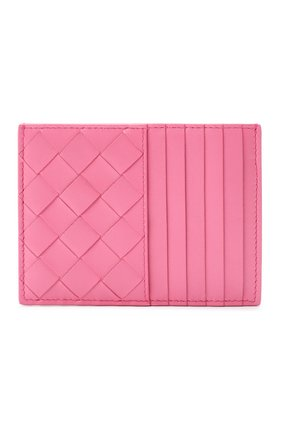 Женский кожаный футляр для кредитных карт BOTTEGA VENETA розового цвета, арт. 635043/VCPP3 | Фото 1