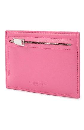 Женский кожаный футляр для кредитных карт BOTTEGA VENETA розового цвета, арт. 635043/VCPP3 | Фото 2