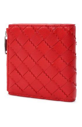 Женские кожаное портмоне BOTTEGA VENETA красного цвета, арт. 600270/VA961   Фото 2