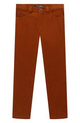 Детские хлопковые брюки LORO PIANA коричневого цвета, арт. FAL2312 | Фото 1