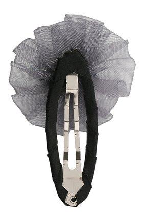 Детская заколка-клак round stone JUNEFEE серого цвета, арт. 6567 | Фото 2