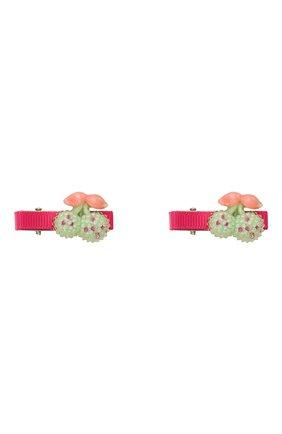 Детская комплект из двух заколок shiny cherry JUNEFEE разноцветного цвета, арт. 5194 | Фото 1