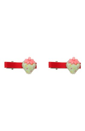 Детская комплект из двух заколок shiny strawberry JUNEFEE разноцветного цвета, арт. 6235 | Фото 1