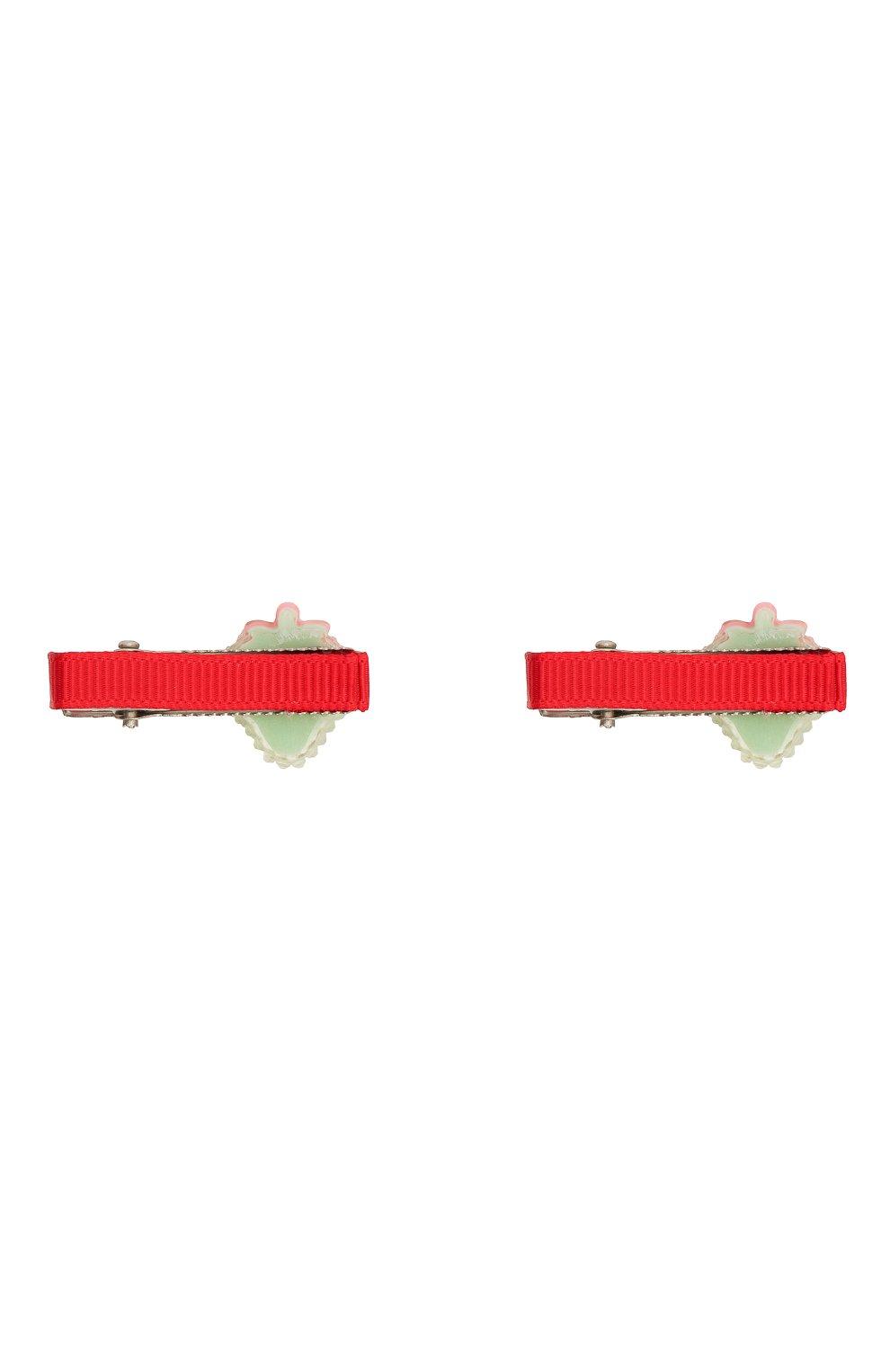 Детская комплект из двух заколок shiny strawberry JUNEFEE разноцветного цвета, арт. 6235 | Фото 2