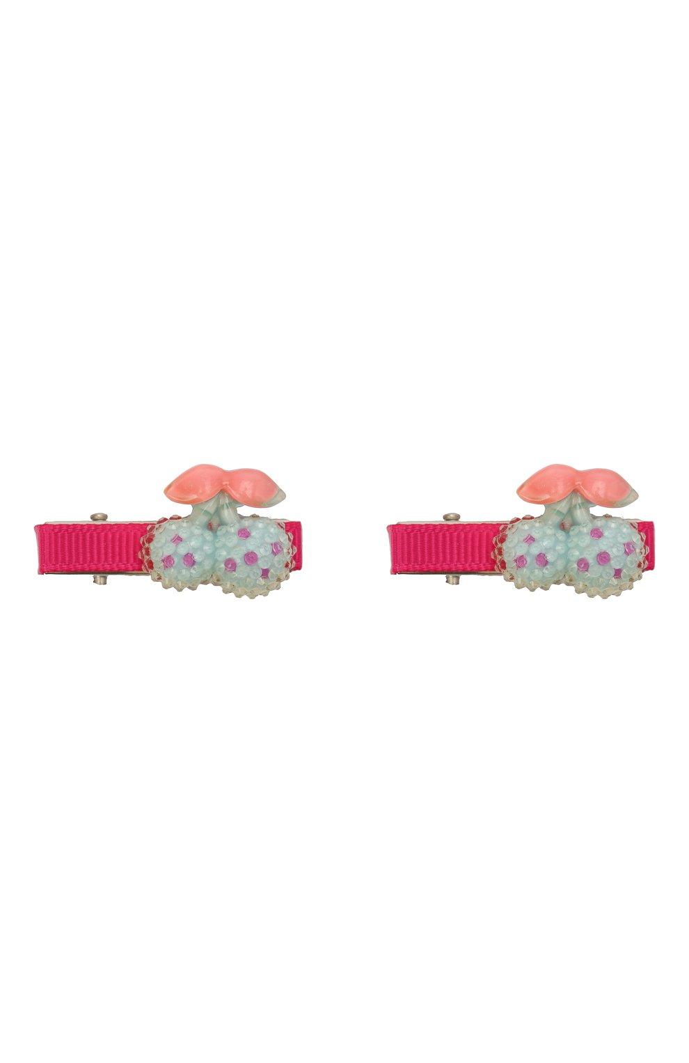 Детская комплект из 2-х заколок shiny cherry JUNEFEE разноцветного цвета, арт. 5582   Фото 1