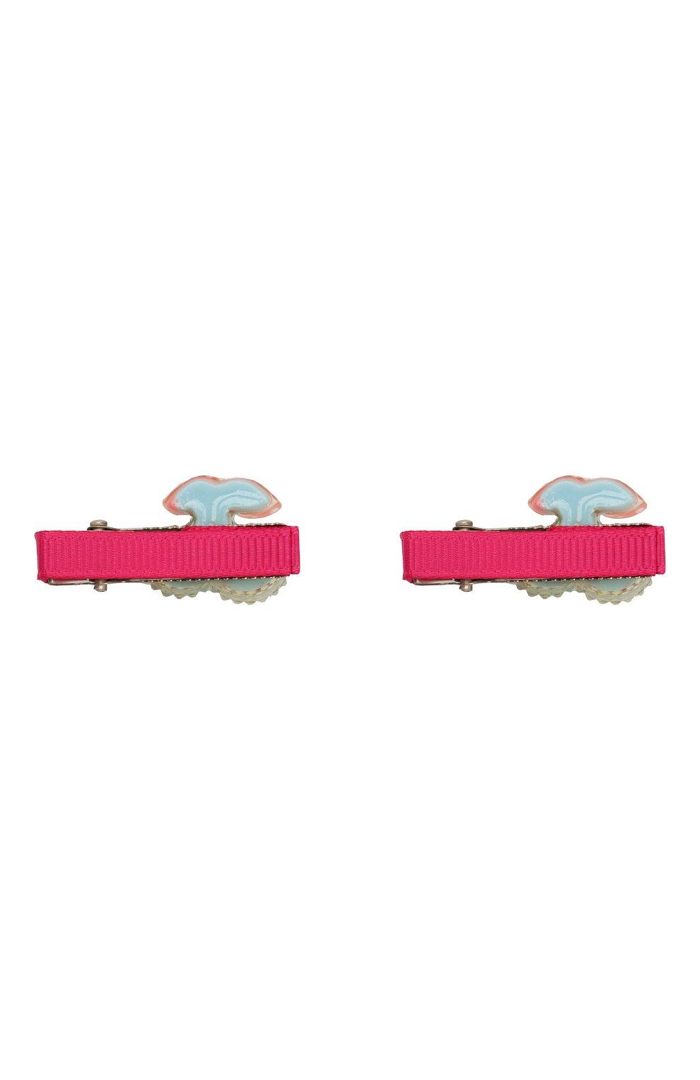 Детская комплект из 2-х заколок shiny cherry JUNEFEE разноцветного цвета, арт. 5582   Фото 2