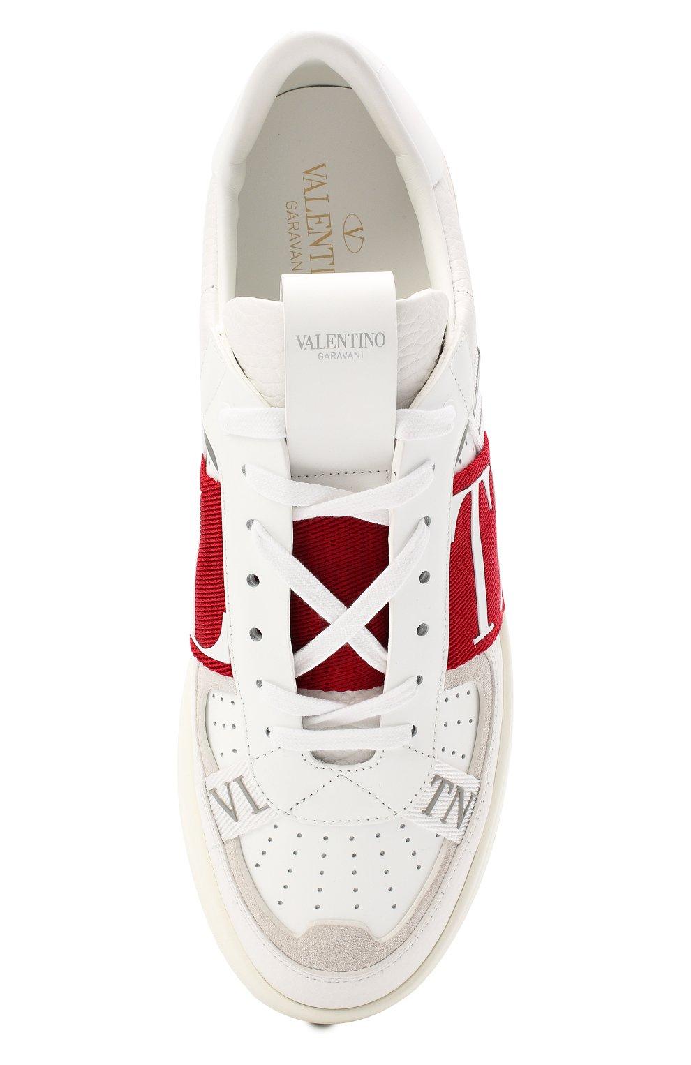 Мужские кожаные кеды valentino garavani vl7n VALENTINO белого цвета, арт. UY2S0C58/WRQ | Фото 5
