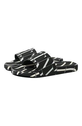 Мужские шлепанцы VALENTINO черного цвета, арт. UY2S0873/YRJ | Фото 1 (Материал внешний: Экокожа)