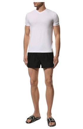 Мужские шлепанцы VALENTINO черного цвета, арт. UY2S0873/YRJ | Фото 2 (Материал внешний: Экокожа)