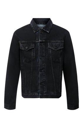 Мужская джинсовая куртка OFF-WHITE черного цвета, арт. 0MYE054E20DEN0031049 | Фото 1
