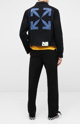 Мужская джинсовая куртка OFF-WHITE черного цвета, арт. 0MYE054E20DEN0031049 | Фото 2