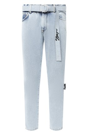 Мужские джинсы OFF-WHITE голубого цвета, арт. 0MYA005E20DEN0014010 | Фото 1