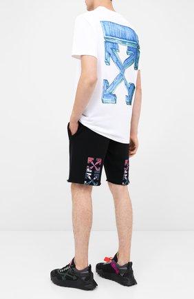 Мужские хлопковые шорты OFF-WHITE черного цвета, арт. 0MCI006E20FLE0051010 | Фото 2