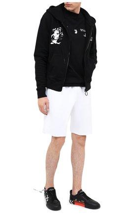 Мужские хлопковые шорты OFF-WHITE белого цвета, арт. 0MCI006E20FLE0050110 | Фото 2