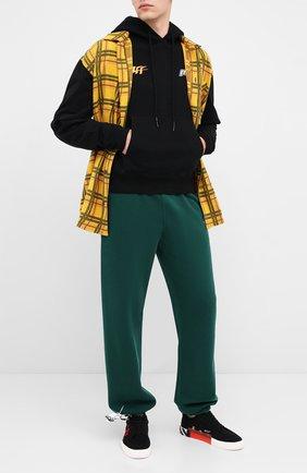 Мужской хлопковые джоггеры OFF-WHITE зеленого цвета, арт. 0MCH029E20FLE0095710 | Фото 2