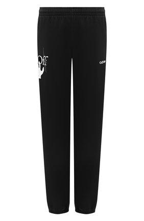Мужские хлопковые джоггеры OFF-WHITE черного цвета, арт. 0MCH029E20FLE0021001 | Фото 1