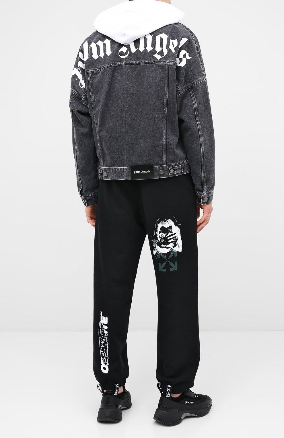 Мужские хлопковые джоггеры OFF-WHITE черного цвета, арт. 0MCH029E20FLE0021001 | Фото 2