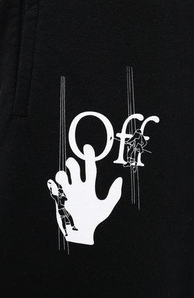 Мужские хлопковые джоггеры OFF-WHITE черного цвета, арт. 0MCH029E20FLE0021001 | Фото 5