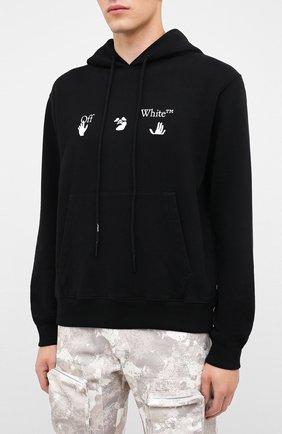 Мужской хлопковое худи OFF-WHITE черного цвета, арт. 0MBB034E20FLE0021001 | Фото 3
