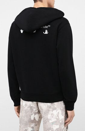 Мужской хлопковое худи OFF-WHITE черного цвета, арт. 0MBB034E20FLE0021001 | Фото 4