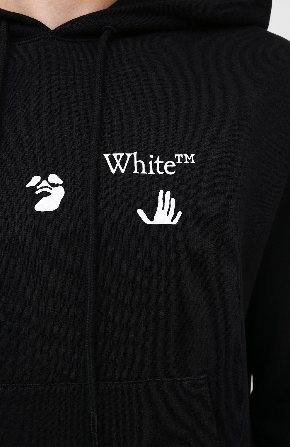 Мужской хлопковое худи OFF-WHITE черного цвета, арт. 0MBB034E20FLE0021001 | Фото 5