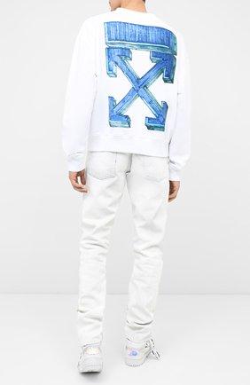 Мужской хлопковый свитшот OFF-WHITE белого цвета, арт. 0MBA035E20FLE0020145   Фото 2