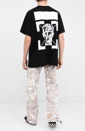Мужская хлопковая футболка OFF-WHITE черного цвета, арт. 0MAA038E20JER0091001   Фото 2