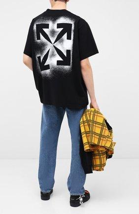 Мужская хлопковая футболка OFF-WHITE черного цвета, арт. 0MAA038E20JER0031001   Фото 2