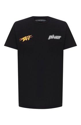Мужская хлопковая футболка OFF-WHITE черного цвета, арт. 0MAA027E20JER0151018   Фото 1