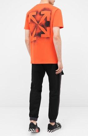 Мужская хлопковая футболка OFF-WHITE оранжевого цвета, арт. 0MAA027E20JER0062010   Фото 2