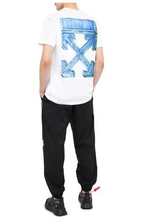 Мужская хлопковая футболка OFF-WHITE белого цвета, арт. 0MAA027E20JER0050145   Фото 2