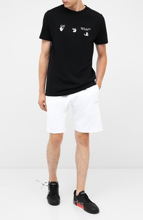 Мужская хлопковая футболка OFF-WHITE черного цвета, арт. 0MAA027E20JER0021001   Фото 2
