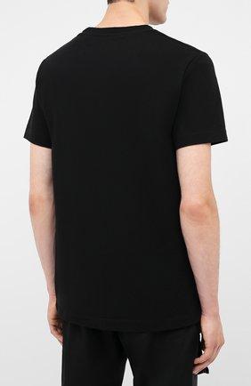 Мужская хлопковая футболка OFF-WHITE черного цвета, арт. 0MAA027E20JER0011001   Фото 4