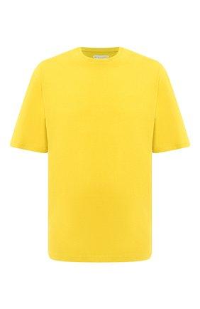 Мужская хлопковая футболка BOTTEGA VENETA желтого цвета, арт. 625982/VF1U0 | Фото 1