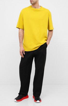 Мужская хлопковая футболка BOTTEGA VENETA желтого цвета, арт. 625982/VF1U0 | Фото 2