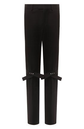 Мужской хлопковые брюки BOTTEGA VENETA черного цвета, арт. 629331/V0KF0 | Фото 1