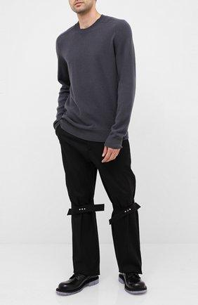 Мужской хлопковые брюки BOTTEGA VENETA черного цвета, арт. 629331/V0KF0 | Фото 2