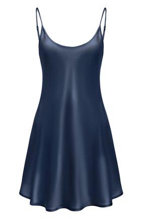 Женская шелковая сорочка LA PERLA синего цвета, арт. 0020291 | Фото 1