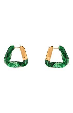 Женские серьги BOTTEGA VENETA зеленого цвета, арт. 617684/VCCU3 | Фото 1