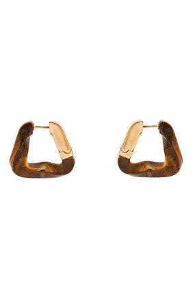 Женские серьги BOTTEGA VENETA коричневого цвета, арт. 617684/V8835 | Фото 1