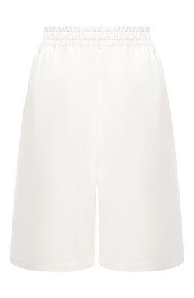 Женские кожаные шорты BOTTEGA VENETA белого цвета, арт. 633445/VKLC0 | Фото 1