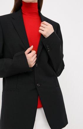 Женский шерстяной жакет BOTTEGA VENETA черного цвета, арт. 628721/VKX00 | Фото 3