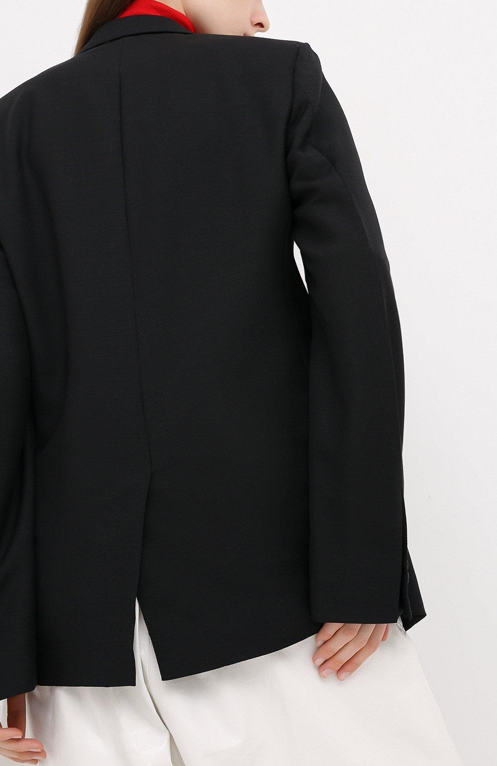 Женский шерстяной жакет BOTTEGA VENETA черного цвета, арт. 628721/VKX00 | Фото 4