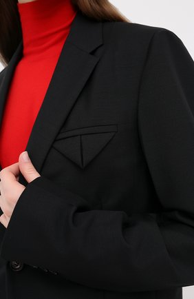 Женский шерстяной жакет BOTTEGA VENETA черного цвета, арт. 628721/VKX00 | Фото 5