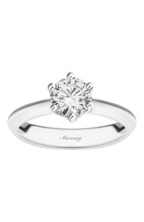 Женские кольцо MERCURY бесцветного цвета, арт. MR090/6WRD | Фото 2 (Материал сплава: Белое золото; Драгоценные камни: Бриллианты)