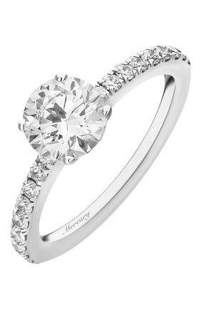 Женские кольцо MERCURY бесцветного цвета, арт. MR090WRD | Фото 1 (Материал сплава: Белое золото; Драгоценные камни: Бриллианты)