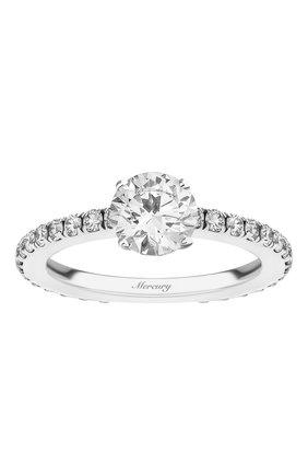 Женские кольцо MERCURY бесцветного цвета, арт. MR090WRD | Фото 2 (Материал сплава: Белое золото; Драгоценные камни: Бриллианты)