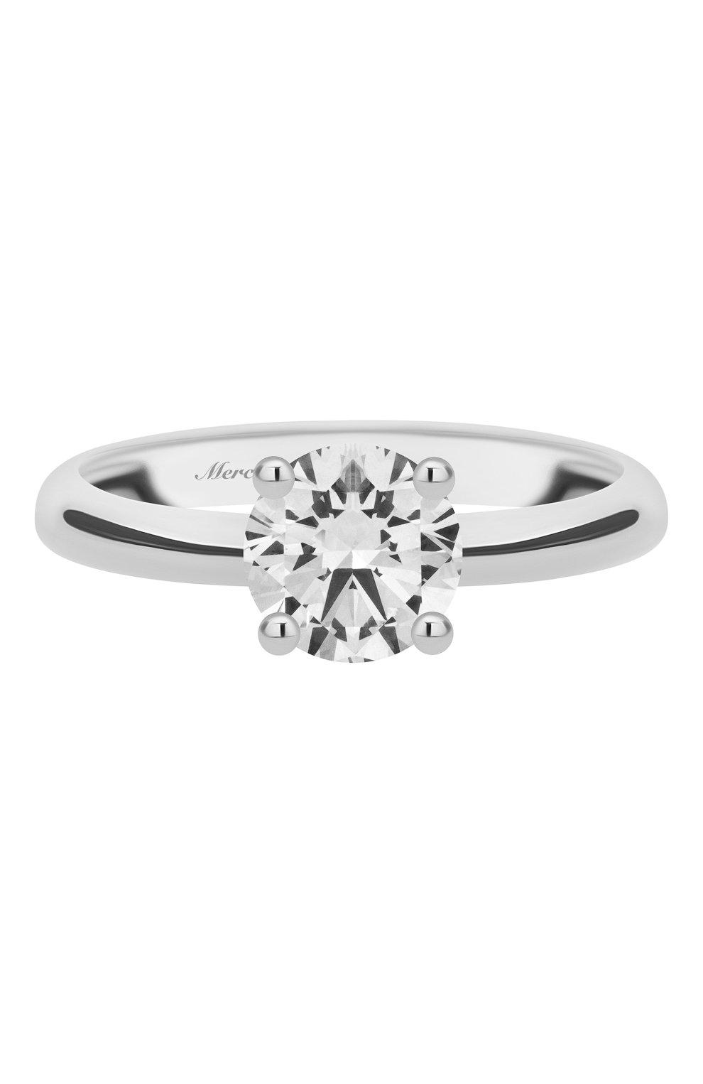 Женские кольцо MERCURY белого золота цвета, арт. MR100/4WRD | Фото 3